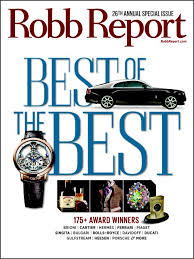 Robb Report Best Of The Best June 2014